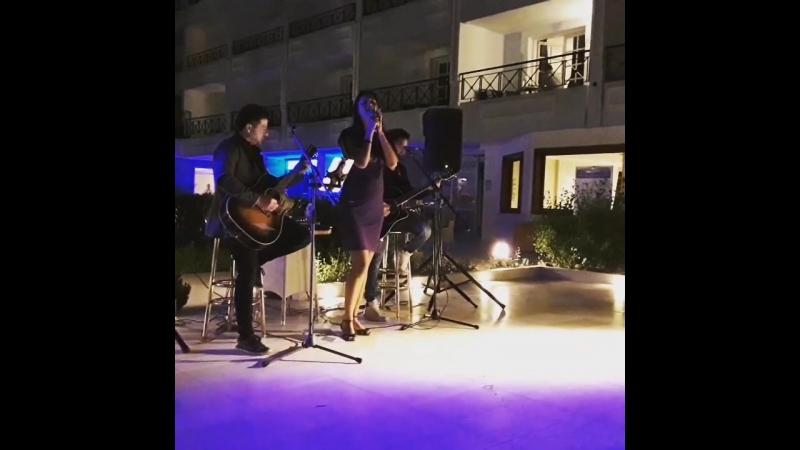 Выступление певицы Foreva и Nima band в Греции на о. Родос
