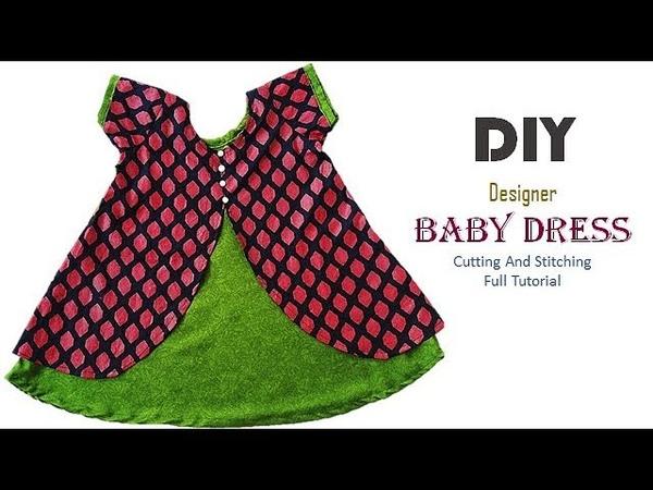 DIY Designer Baby Frock In Simple Way Full Tutorial