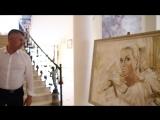 Портрет Анастасии Волочковой. Встреча у нее в доме. Художник Дмитрий Лукин