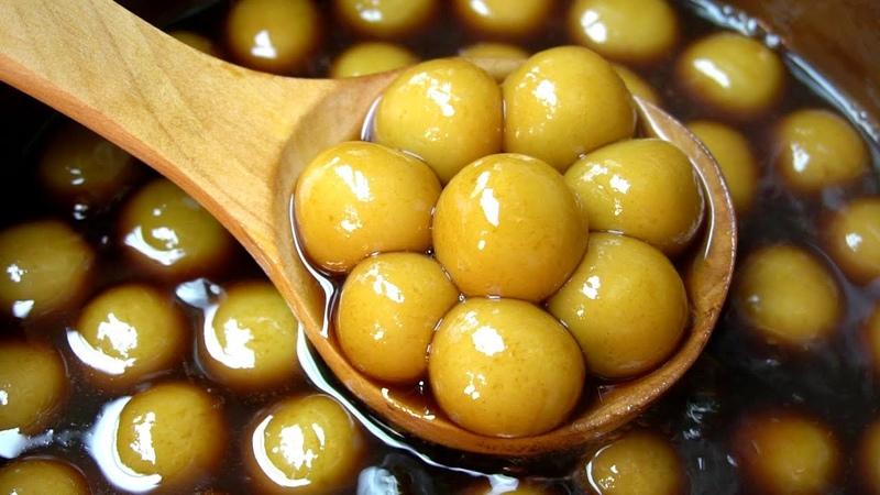 客家传统名点姜汁丸子,详细做法,简单易学,冬天女人要多吃哦!