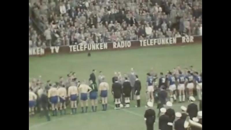 VM-final fotboll 1958 - Folke Wännström. FIFA World Cup football 1958 Sweden vs. Brazil