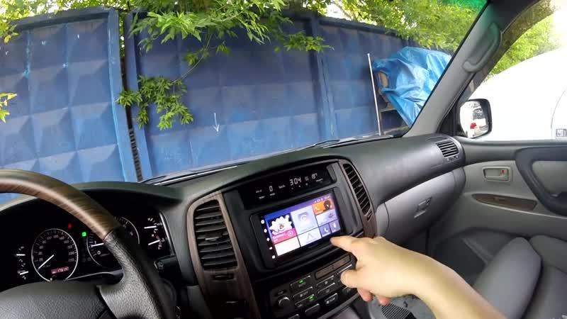 Мультимедийный навигационный центр Prology MPA 700 в Land Cruiser 100