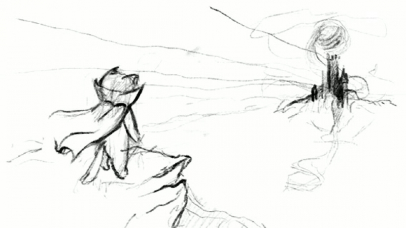Rimoruka timelapse sketch in process