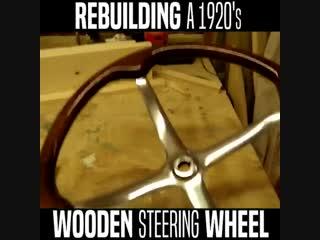 Woody steering wheel restoration