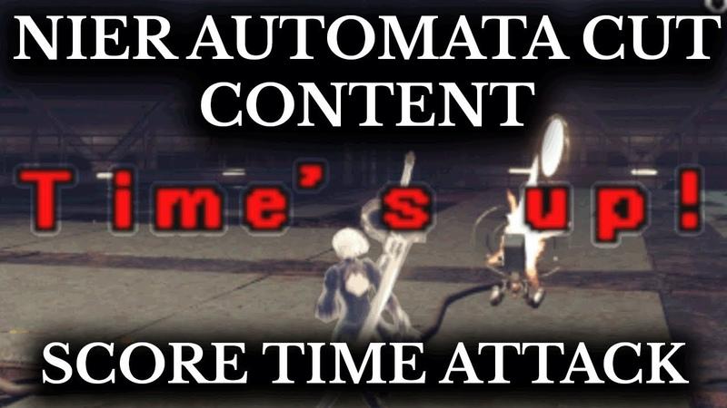 Nier Automata Cut Content - Score Attack Mode - Rarely Seen PlayGo Novel