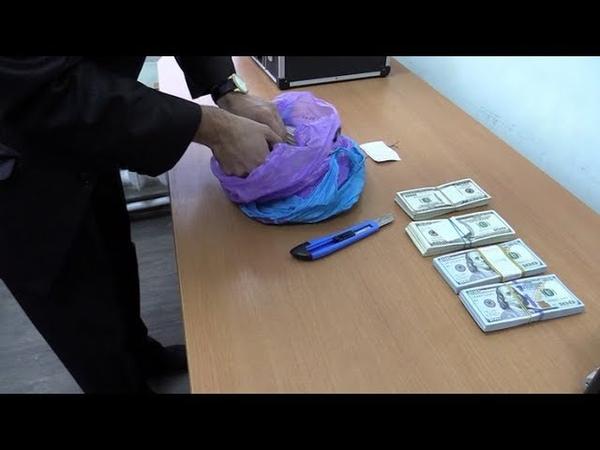Правоохранители ЛНР изъяли у контрабандиста на границе с Россией 90 тысяч долларов