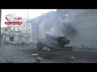 выстрел из самодельного миномета, Сирия