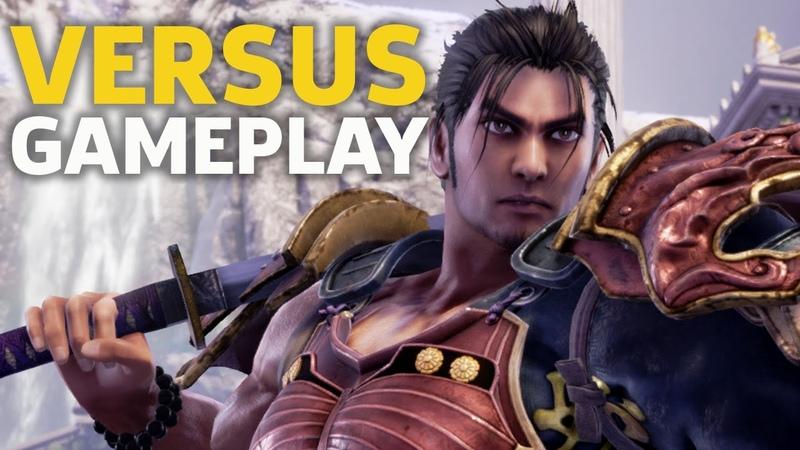 5 Minutes Of SoulCalibur VI VS. Gameplay With Mitsurugi, Seong Mi-Na, Siegfried, And Sophitia | TGS