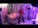 Singer doing as a model Lana Sun shooting