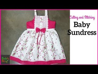 Baby Sundress Cutting and Stitching in Hindi/Urdu (Baby Frock Design 6)