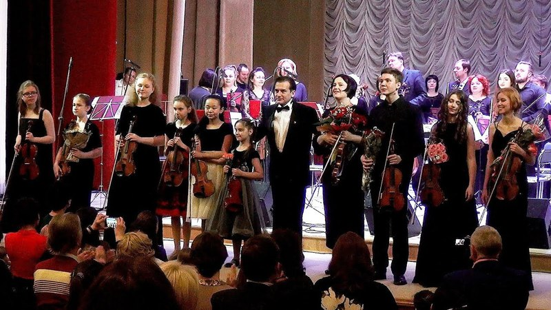 Концерт симфонического оркестра Ступинской филармонии и студентов колледжа Галины Вишневской