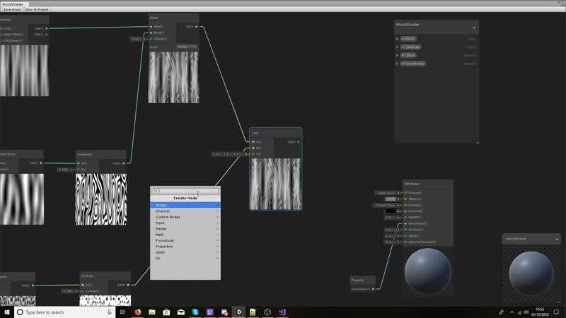 Unity Tutorial _ Shader Graph _ Procedural Wood Shader