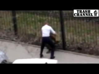 Драка Ополченец ДНР vs охранник ростовского кафе