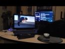 Кот Матвей за просмотром видео Охотничий инстинкт