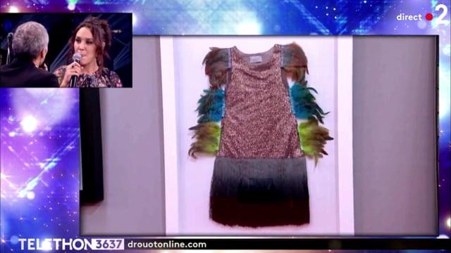 ZAZ Qué vendrá Colibris dress auction - French Telethon 2018