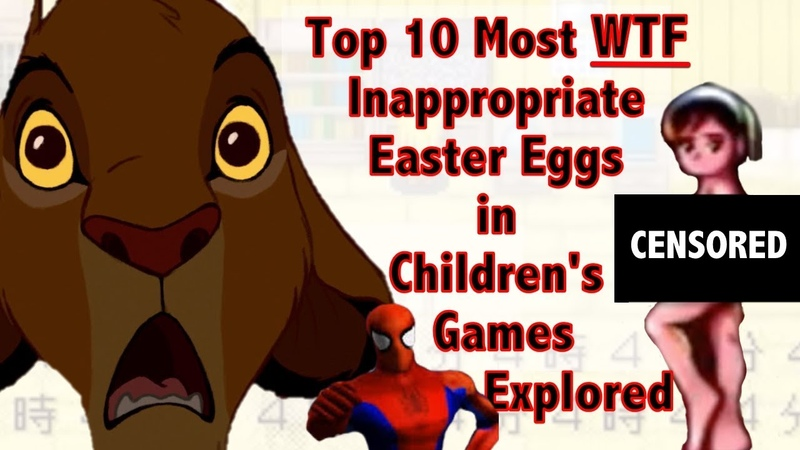 Shocking Easter Eggs in Kid Games Analyzed Ranked