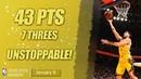 Klay Thompson Unstoppable Shooter | 43 PTS, 7 THREES | GSW vs NYK | 09.01.2019 | MH