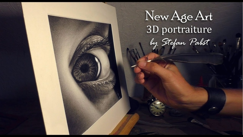 3D DRAWING of an eye realistic portraiture by Stefan Pabst