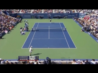 Novak Djokovic vs Kei Nishikori - Us Open 2014 SF Highlights