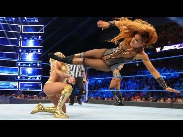 Charlotte Flair Becky Lynch Vs Sonya Deville Mandy Rose WWE SmackDown Live 14 August 2018