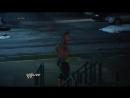 John Cena and Randy Orton brawl outside the ring Raw, Jan., 20, 2014