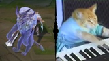 God-King Garen - Dance reference (Keyboard Cat)