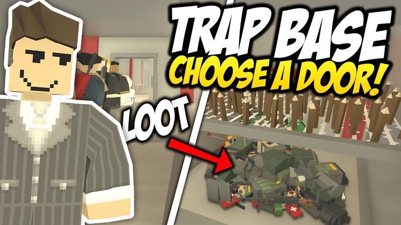 CHOOSE A DOOR - Unturned Trap Base   Wrong Door= DEATH!
