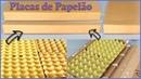 Veja Como Fazer Placas de Papelão Usando Caixas de Ovos