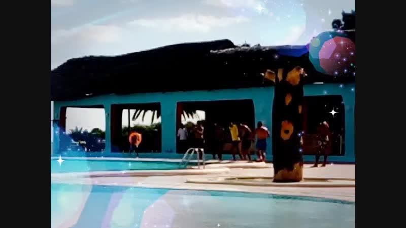 Анимация у бассейна Танцы Гаваи Бич
