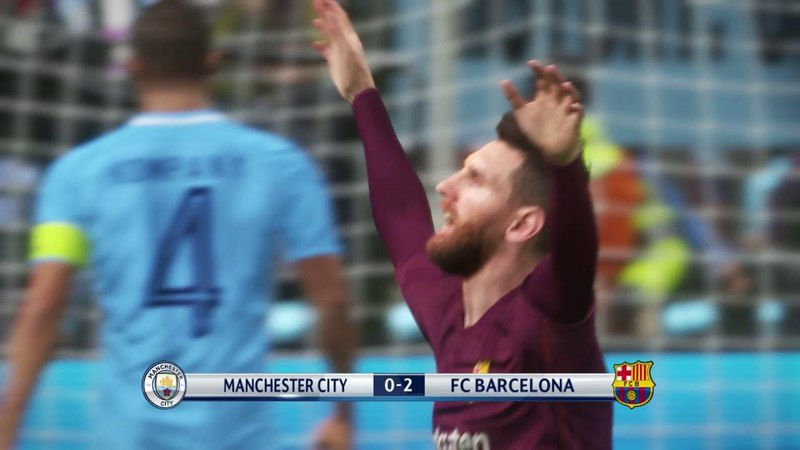 Manchester City vs Barcelona 2018 / UEFA Champions League / PES 2018 Gameplay PC