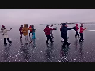 Тайцзицюань на льду Байкала