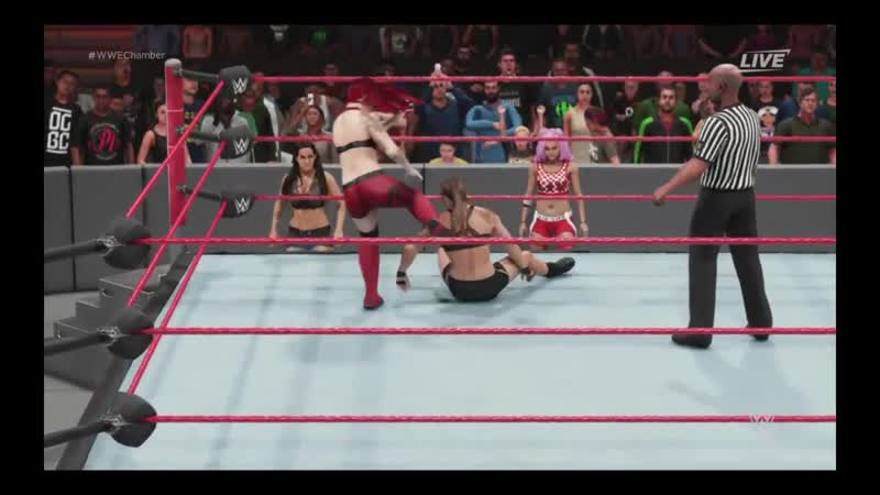 WWE 2K19 ELIMINATION CHAMBER 2019 Simulation Match of Ruby Riott VS Ronda Rousey
