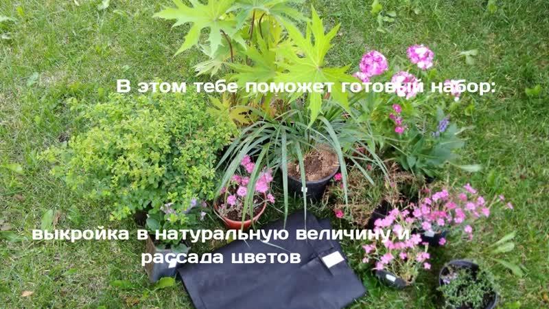 Готовые цветники заявка в Вк
