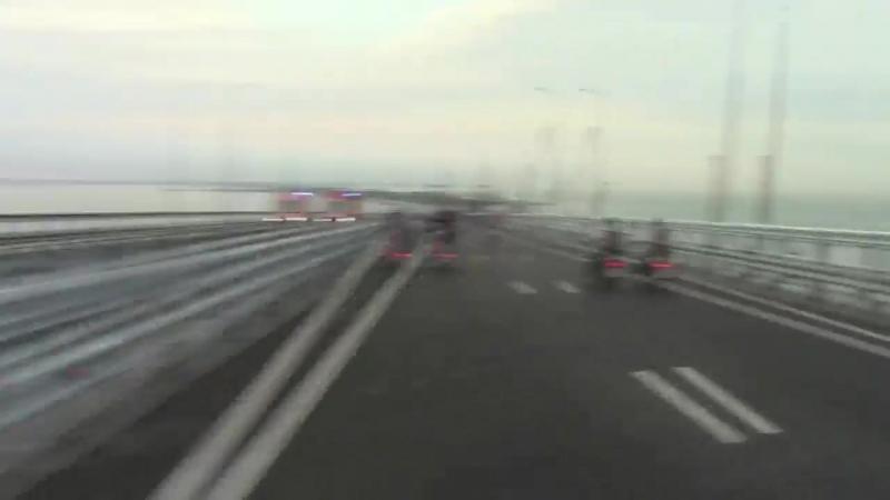 Крымский мост открыт! Ура МОТОПробег 5-30 утра.Наше небольшое путешествие.
