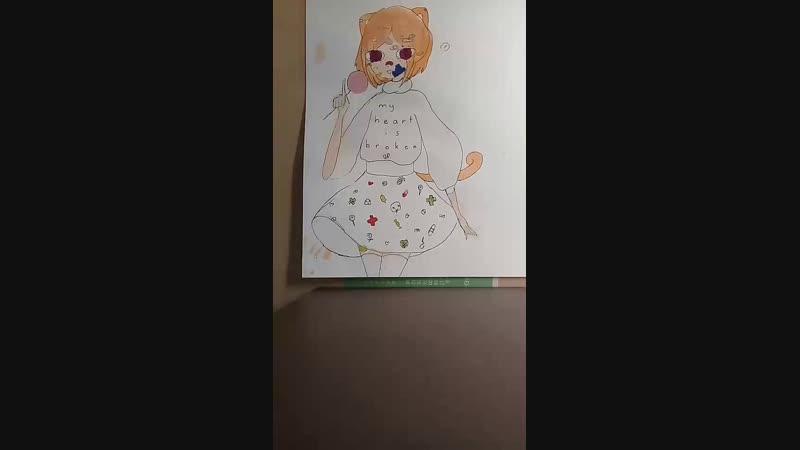 рисую акварелькой 2 (не бейте, я рукожоп)