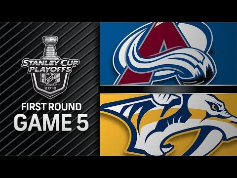 NHL 18 PS4. 2018 STANLEY CUP PLAYOFFS FIRST ROUND GAME 5 WEST: AVALANCHE VS PREDATORS. 04.20.2018. (NBCSN) !