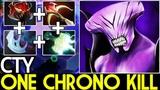 CTY [Faceless Void] One Chrono Kill Max Attack Speed Build 7.19 Dota 2