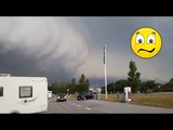 Awesome Apocalyptic clouds coming in the sky over Poland ! Sep 7,2018