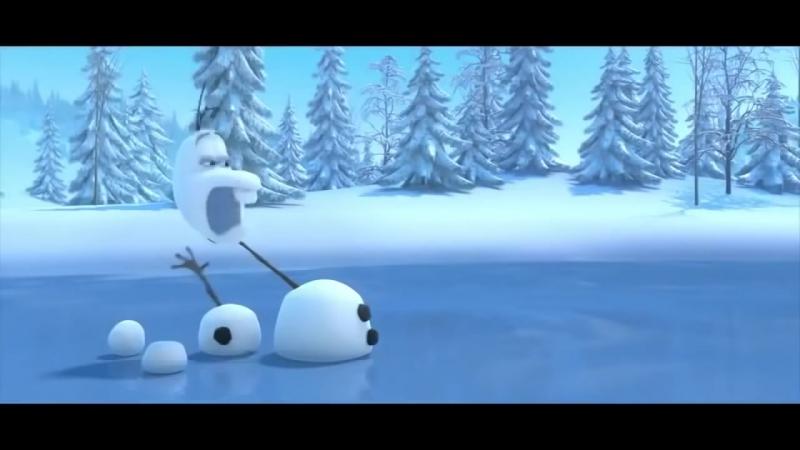 Снеговик и Олень! Смешной Олаф из мультика Холодное Сердце.mp4