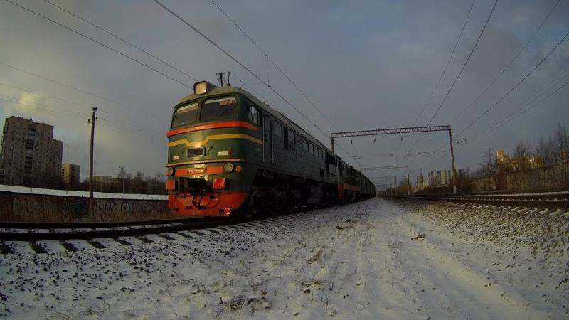 Тепловозы М62-1517 и ЧМЭ3т-6885 с грузовым
