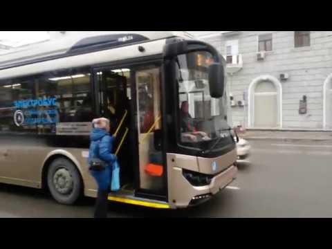 Начались испытания нового электробуса Тролза в Ростове-на-Дону