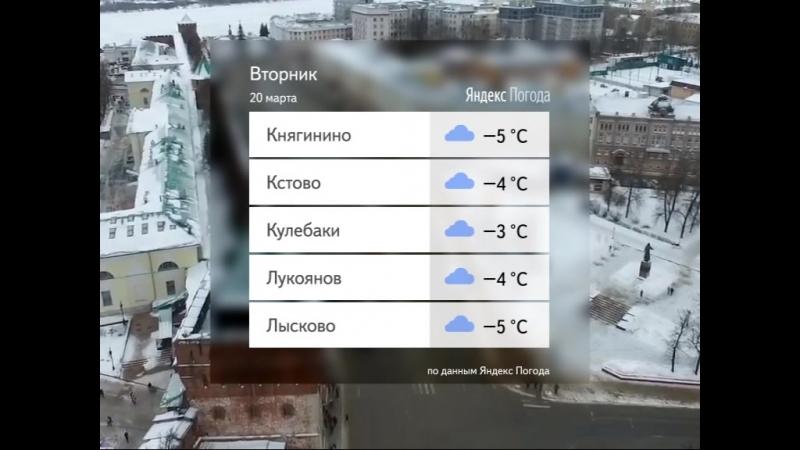 Погода для Нижнего Новгорода и области на 20.03.18