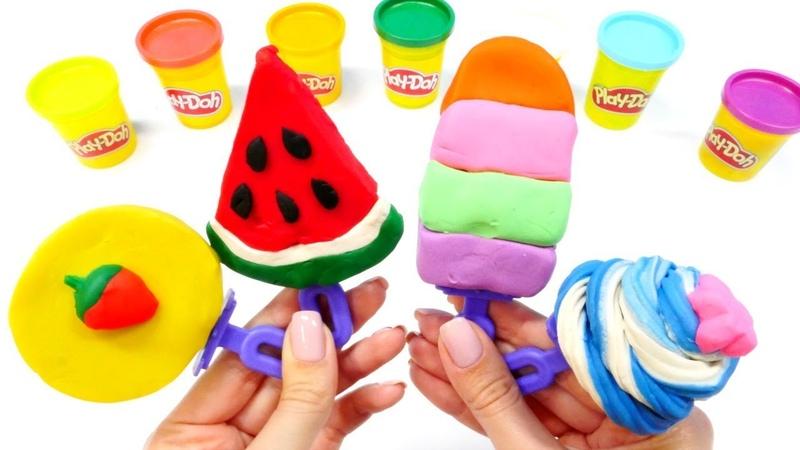 Hacemos helados. Play doh en español. Vídeos de juguetes.
