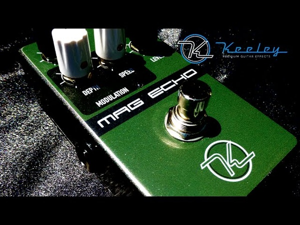 Robert Keeley Electronics - MAG ECHO analog delay pedal review and demo. HD magnetic