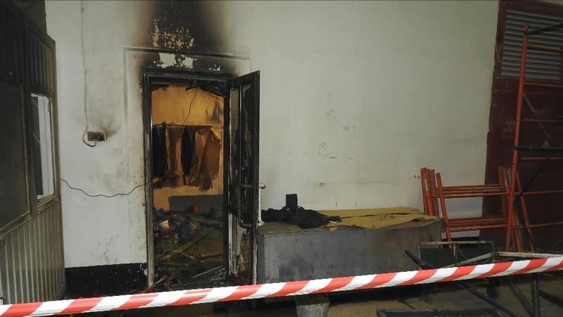 Пожар в Гороховце на стекольном заводе