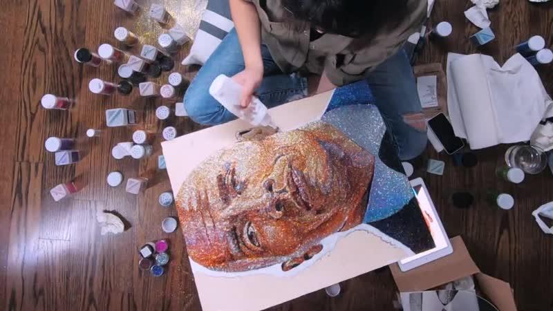 Dwayne Johnson GLITTER ART ¦ The Rock by TRILLI TrilliLife