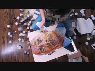 Dwayne johnson glitter art ¦ the rock by trilli #trillilife