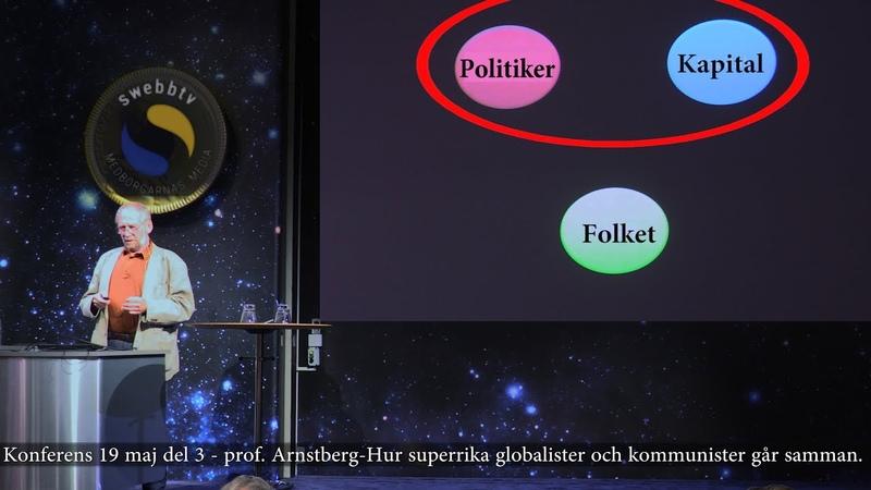 Konferensen 19 maj del 3 prof Arnstberg-Varför superrika globalister och kommunister går samman.