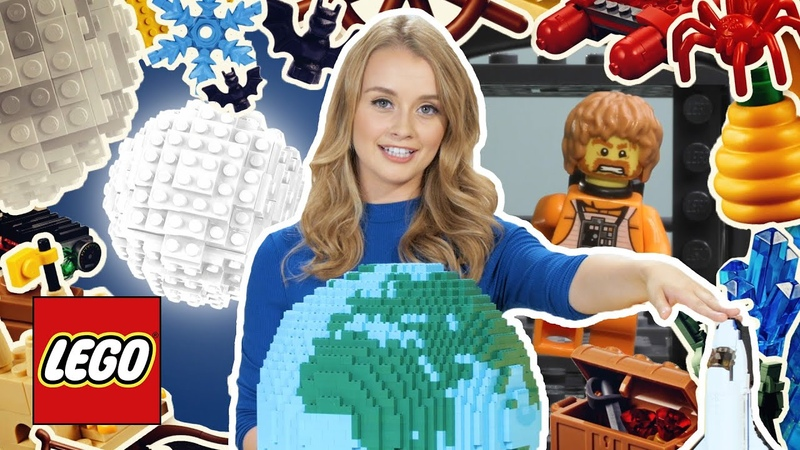 How Far Is It To The Moon? Cool Facts about Space and the Moon - LEGO Stop Motion for Kids Learning