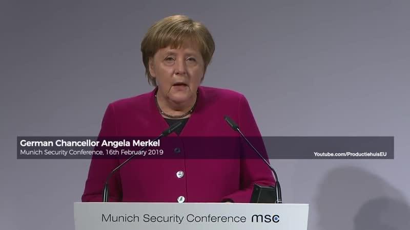 MSC2019: German Chancellor Angela Merkel calls Russia a partner (Munich Security Conference)
